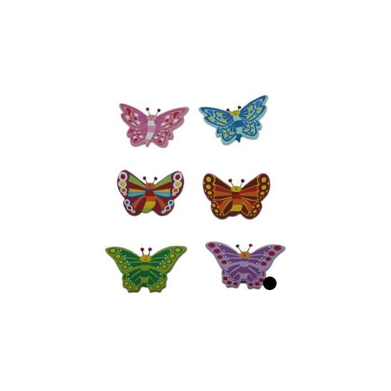 Paarse vlinder van hout