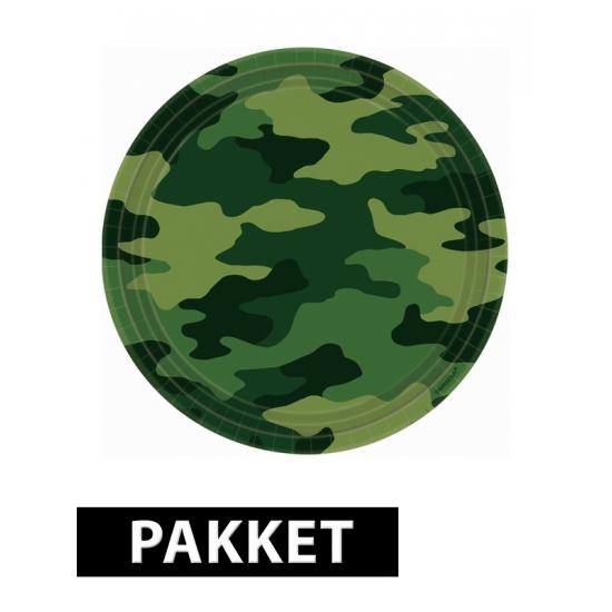 Pakket voor camouflage feestje