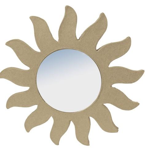 Papier mache zon met spiegeltje