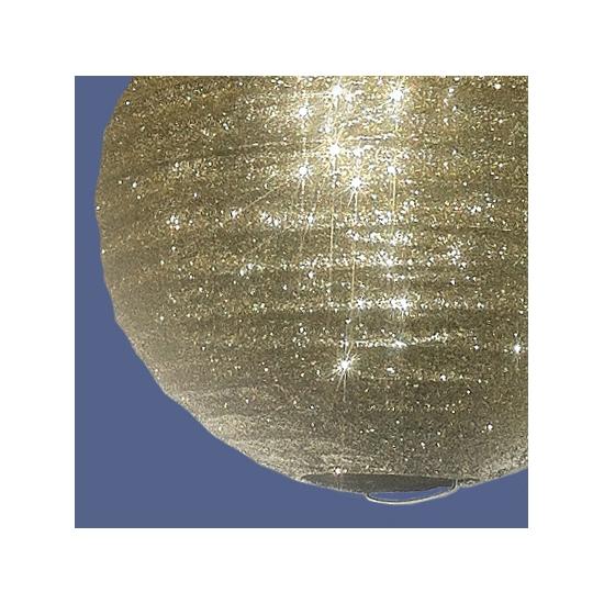 Papieren glitter lampion goud