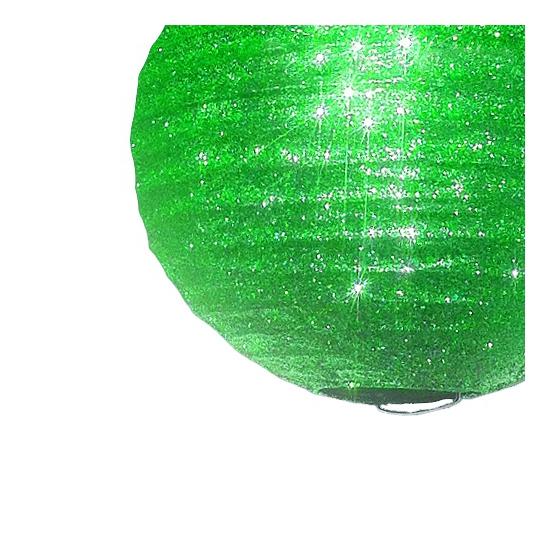 Papieren glitter lampion groen