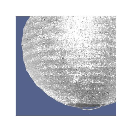 Papieren glitter lampion wit