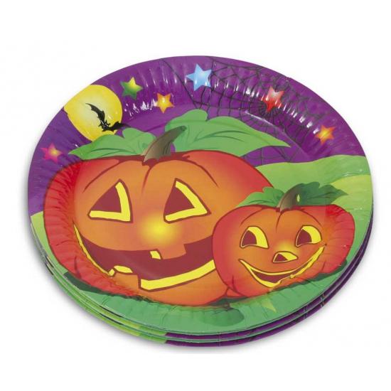 Papieren Halloween feestbordjes 10 stuks