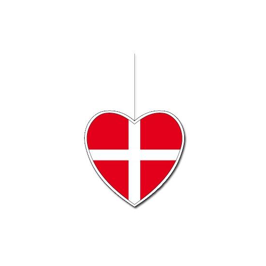 Papieren hart in Deense kleuren 14 cm
