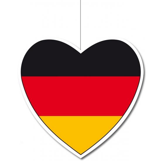 Papieren hart in Duitse kleuren 14 cm