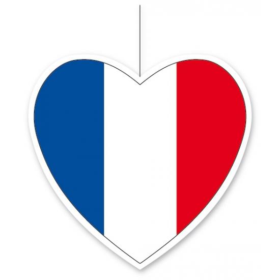 Papieren hart in Franse kleuren 30 cm