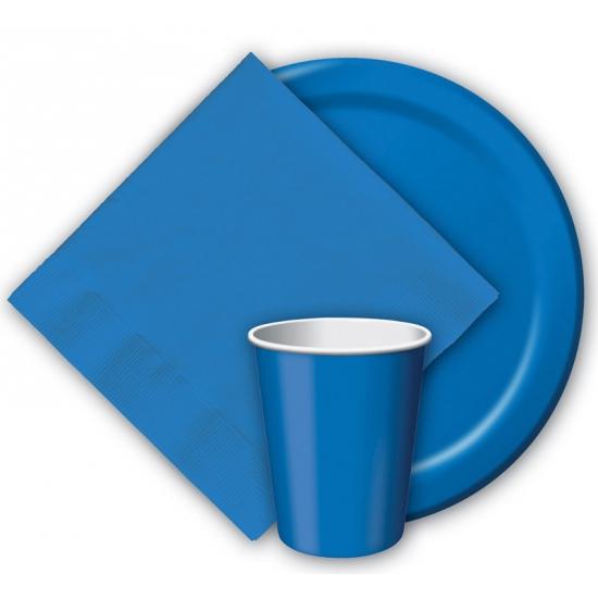 Party bekers blauw 8 stuks