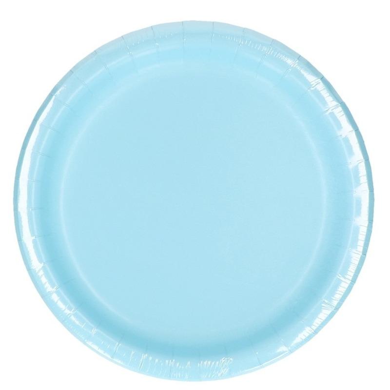 Party borden lichtblauw 8 stuks