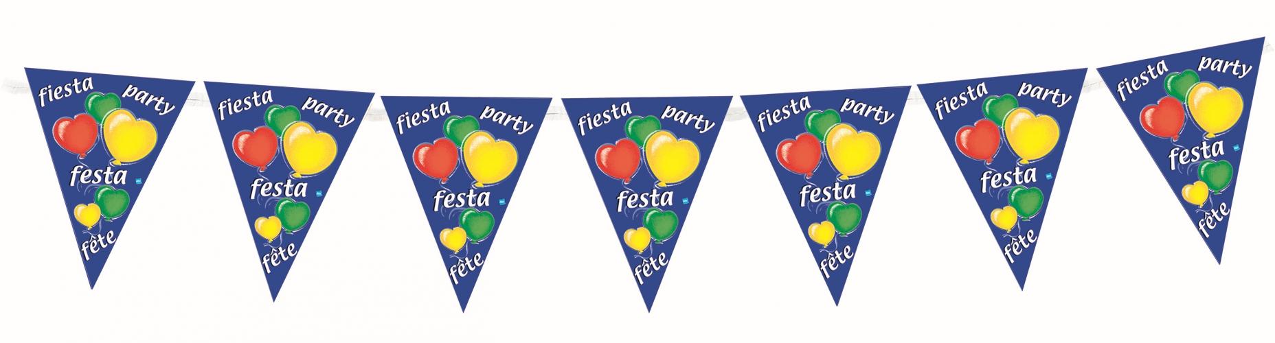 Party feest vlaggenlijn 3 6 meter