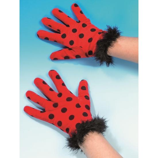 Party handschoenen lieveheersbeestje