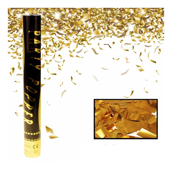 Party popper goud 40 cm