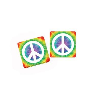 Peace onderzetters jaren 60 feest