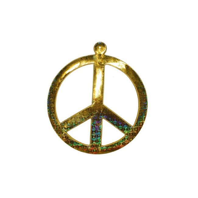 Peace teken goudkleurig 52 cm