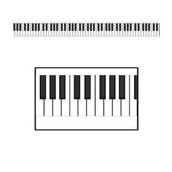Piano toetsenbord lint 15 meter