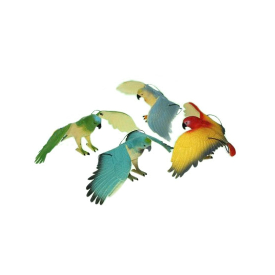 Piep speelgoed blauw zwarte papegaai 33 cm
