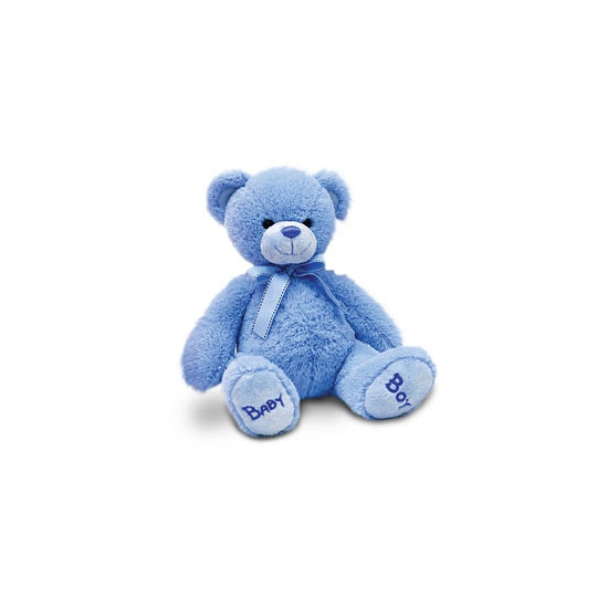 Pluche baby boy beer blauw 25 cm