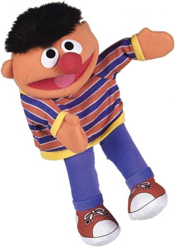 Pluche handpop Ernie 35 cm