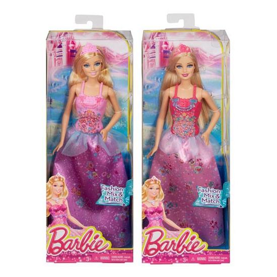 Prinses Barbie blond haar