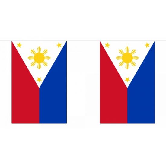 Rechthoekige filipijnen vlaggenlijn
