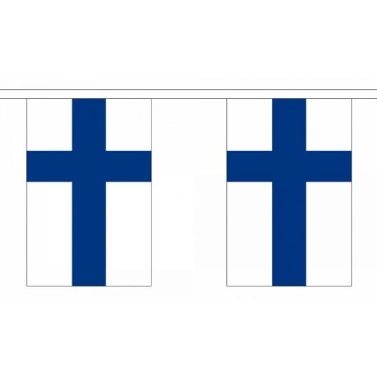 Rechthoekige Finland vlaggenlijn