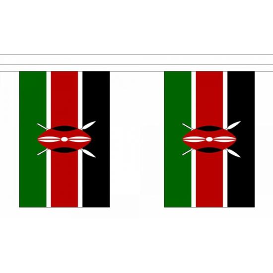 Rechthoekige Kenia vlaggenlijn