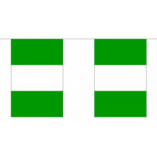 Rechthoekige Nigeria vlaggenlijn
