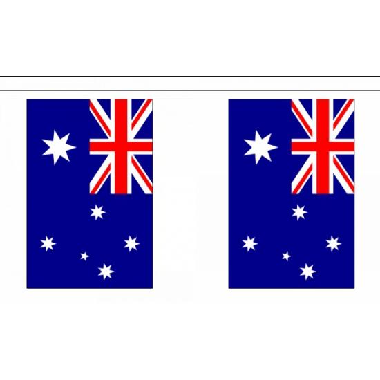 Rechthoekige vlaggenlijn Australie