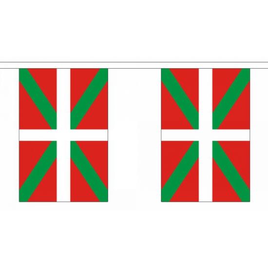 Rechthoekige vlaggenlijn Baskenland