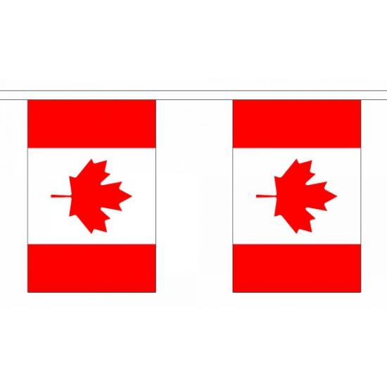 Rechthoekige vlaggenlijn Canada