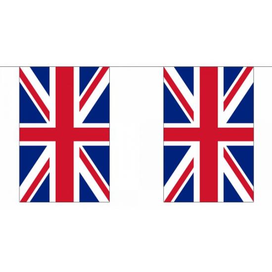 Rechthoekige vlaggenlijn Groot brittannie