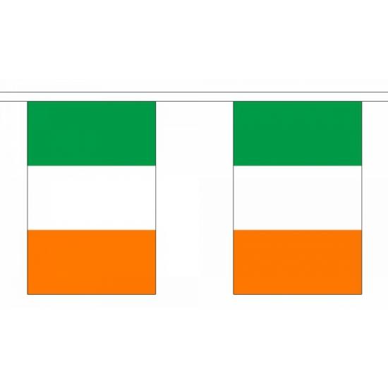Rechthoekige vlaggenlijn Ierland
