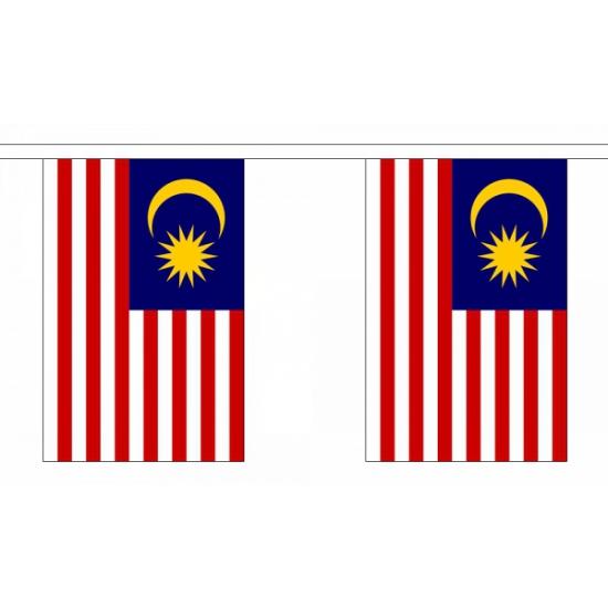 Rechthoekige vlaggenlijn Maleisie