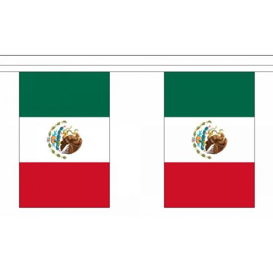 Rechthoekige vlaggenlijn Mexico