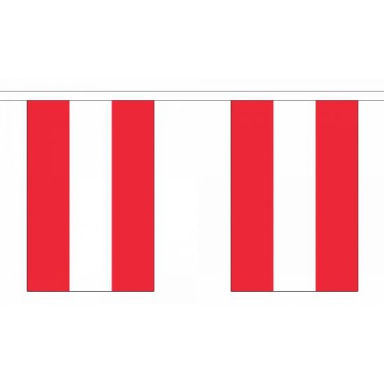 Rechthoekige vlaggenlijn Oostenrijk
