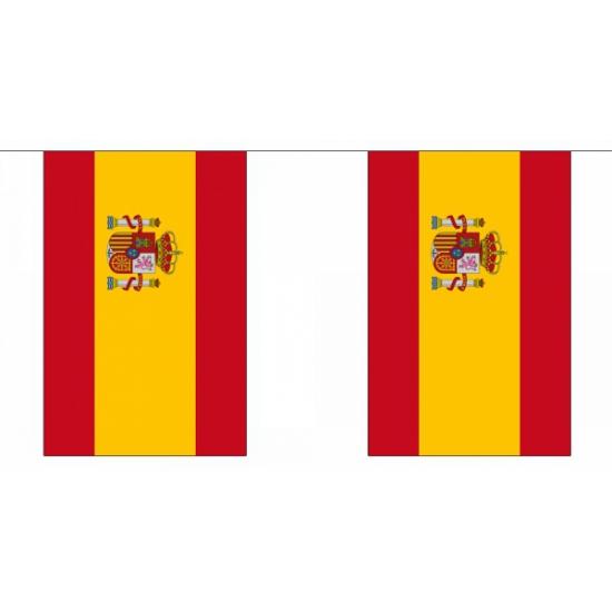 Rechthoekige vlaggenlijn spanje