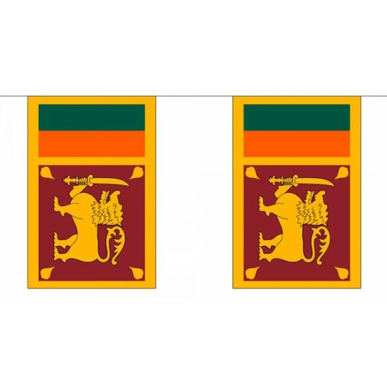 Rechthoekige vlaggenlijn Sri Lanka