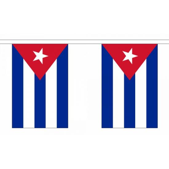 Rechthoekige vlaggenlijn van Cuba