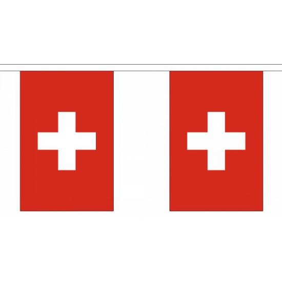 Rechthoekige vlaggenlijn Zwitserland