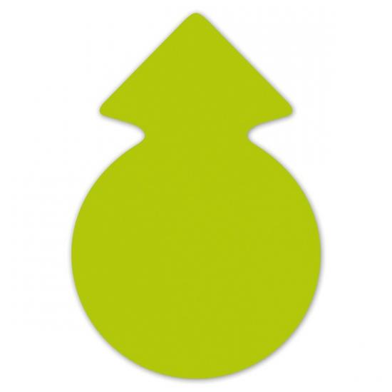 Reclame cirkel pijlen neongroen 23 cm