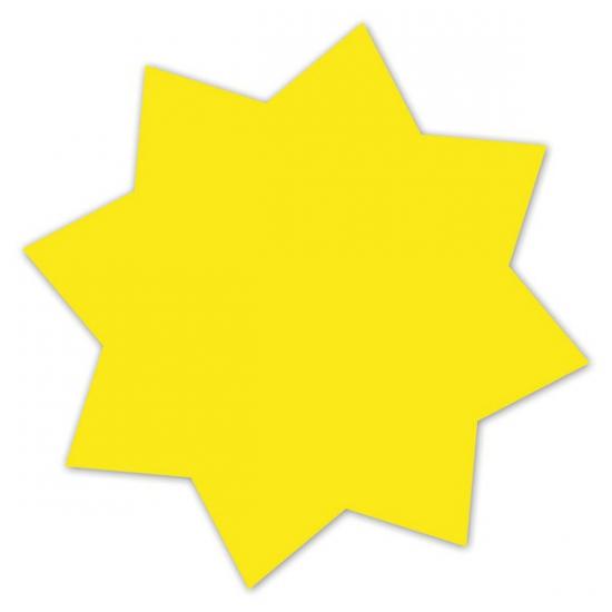 Reclame sterren neongeel 18 cm
