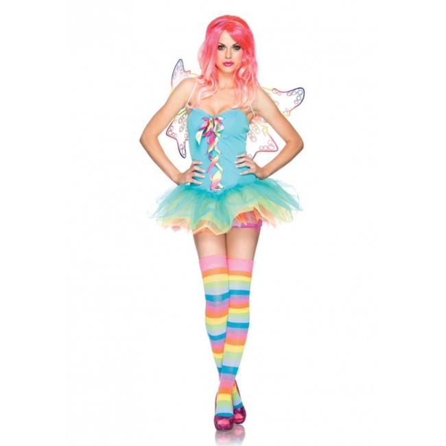 Regenboog fairy kostuum voor dames