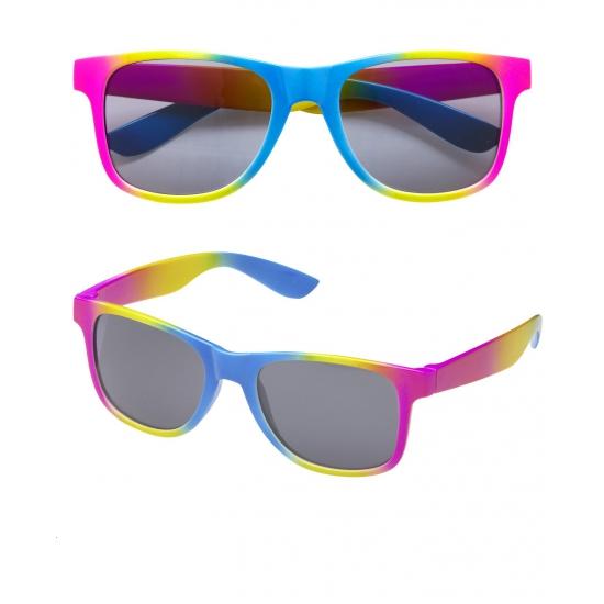 a3a408a228ec54 Regenboog retro zonnebril
