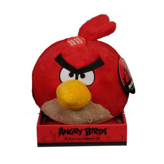 Regular Red Bird knuffels met geluid  12 cm