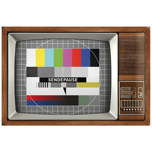 Retro design muurplaat Retro TV 20 x 30 cm
