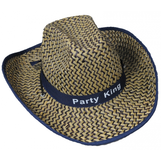Rieten cowboyhoed Party King
