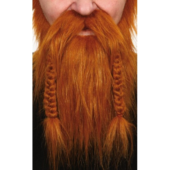 Rode baard met gevlochten snor