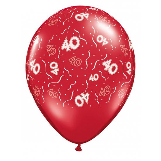 Rode ballonnen 40