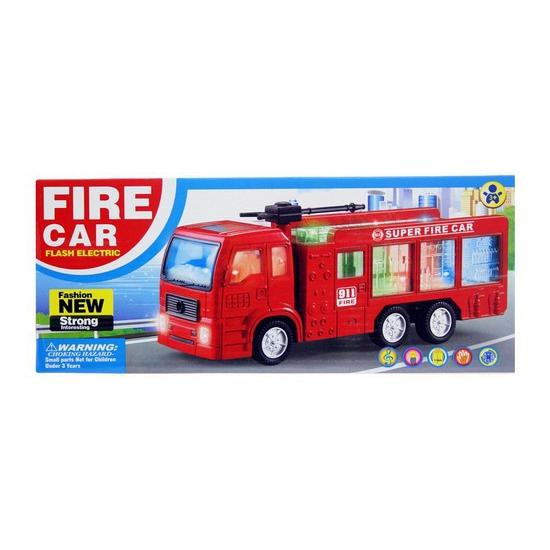 Rode brandweerauto met licht en geluid
