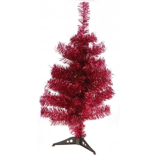 Rode deco kerstboom 60 cm