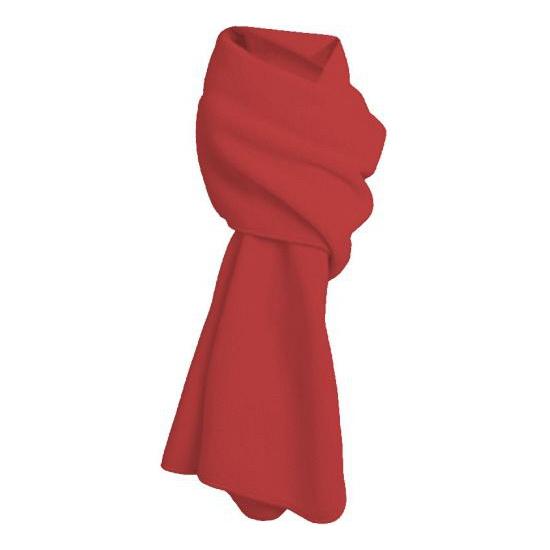 Rode fleece sjaal